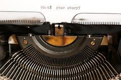 Quelle est votre histoire ? Images libres de droits