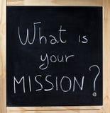 Quelle est votre mission ? Photographie stock