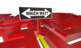 Quelle manière choisissent décidez le labyrinthe de chemin illustration stock