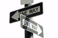 Quelle voie ? Photos libres de droits