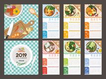 Quellen des strengen Vegetariers von Vitaminkalender 2019 vektor abbildung