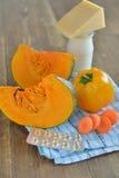 Quellen des Vitamins A Stockbild