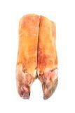 Quelles coupes le sabot de porc de ‹d'†de ‹d'†pour la viande en gelée a isolées sur le Ba blanc Image stock