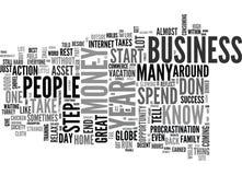 Quelles prises vous de nouveau au début votre propre nuage de Word d'affaires à la maison Photo libre de droits