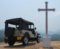 Quello con la jeep Fotografia Stock Libera da Diritti