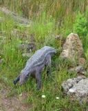 Quello delle ricostruzioni dei rettili e degli anfibi mesozoici Immagine Stock