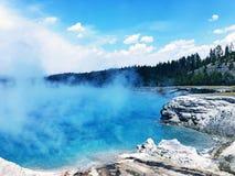 Quellpunkt in Yellowstone Nationalpark Stockfotos