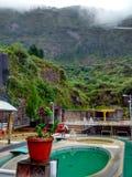 Quellpunkte komplex nahe bei Tungurahua-Vulkan in Banos, Ecuador stockfotografie