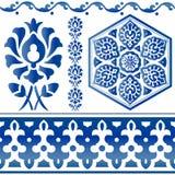 Quelques éléments islamiques de conception Photographie stock