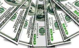 Quelques billets de banque des dollars des Etats-Unis Images stock