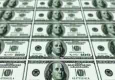 Quelques billets de banque des dollars des Etats-Unis Photos libres de droits
