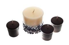 Quelques bougies parfumées Photos stock