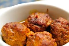 Quelques boulettes de viande Photos stock