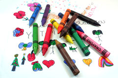 Quelques crayons Image stock