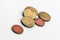 Quelques diverses pièces de monnaie photos libres de droits
