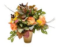 Quelques fleurs sur le blanc Image libre de droits