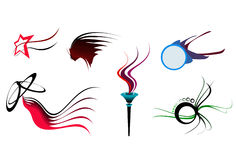 Quelques formes 1 de symbole Images libres de droits