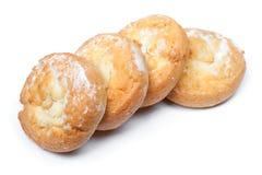 Quelques grands biscuits savoureux Images libres de droits