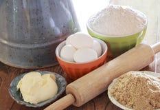 Quelques ingrédients pour la cuisson Photo stock