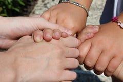 Quelques mains Photographie stock libre de droits