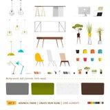 Quelques meubles de bureau Photo stock