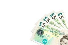 Quelques notes de livre sterling britannique photo stock
