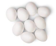 Quelques oeufs blancs Photo stock