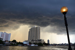 Quelques orages, Bangkok Photos libres de droits