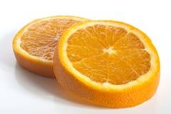 Quelques parts d'orange Image libre de droits