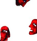 Quelques personnes colorées, peintures. illustration libre de droits