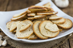Quelques puces cuites au four fraîches de pain Photo libre de droits