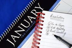 Quelques résolutions proposées Photographie stock libre de droits