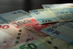 Quelques vieux billets de banque des dollars de Hong Kong Image libre de droits