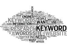 Quels mots-clés font j'ayez besoin et comment fais je trouvez du nuage de Themword illustration libre de droits