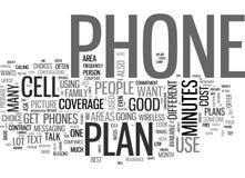 Quels plan et téléphone sans fil si nuage d'I Buyword illustration stock