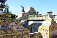 queluz дворца сада канала azulejos национальное стоковые фото