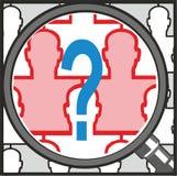 Quem é quem? ilustração do vetor