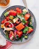 Quem é mais em saladas da melancia agora? imagem de stock