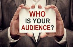 Quem é sua audiência Foto de Stock