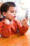 Quem está chamando agora? Foto de Stock