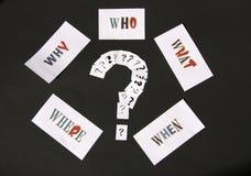 Perguntas Fotos de Stock