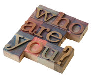 Quem são você? imagens de stock