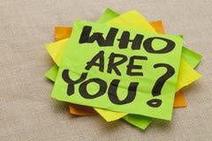 Quem são você pergunta Fotografia de Stock