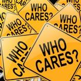 Quem se importa. Foto de Stock