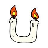 quema de la vela en la historieta cómica de ambos extremos ilustración del vector