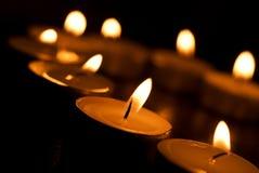 Quema de las velas del atajo Foto de archivo libre de regalías