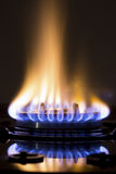 Quemadores de gas encendidos Fotografía de archivo libre de regalías
