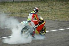 Quemadura de la moto Imagen de archivo libre de regalías