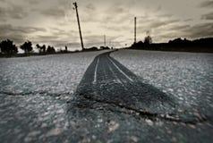 Quemadura del neumático del camino Imagen de archivo