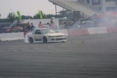 Quemadura III del coche de la deriva del Motorsports de la entrada fotos de archivo